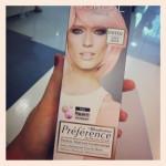Bloggerevent und rosa Haar.