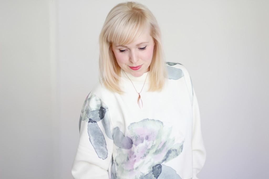 Acne Flowerprint Sweater