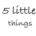 5 little things #7