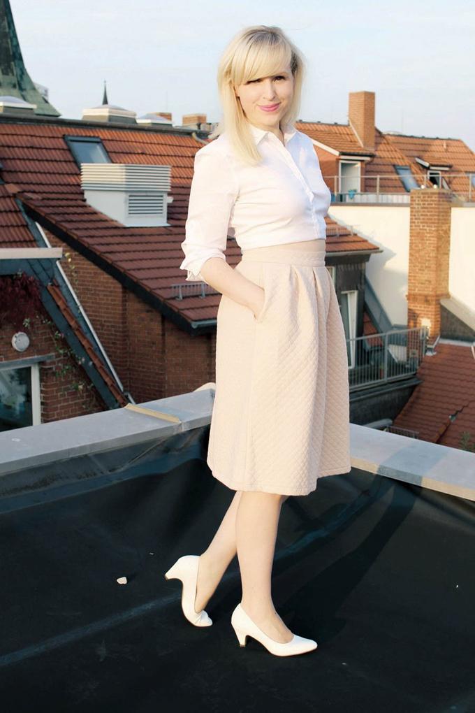 first time Midi skirt