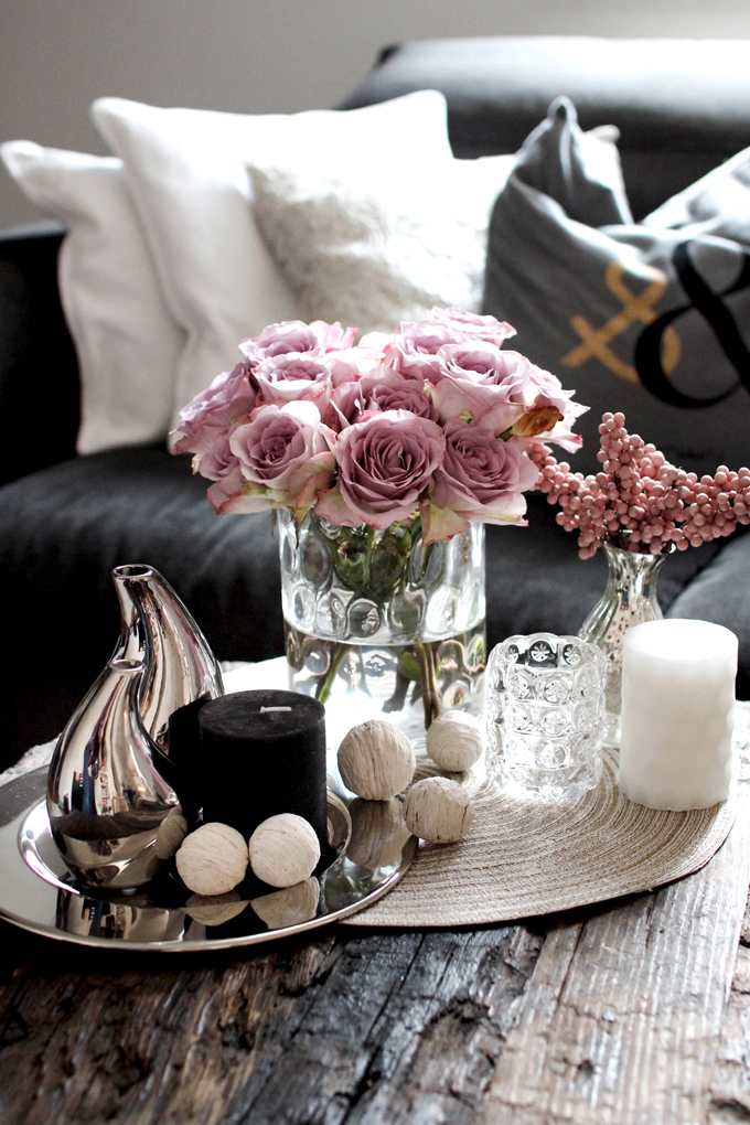 Coffee table decoration romantic cool zukkerm dchen for Tischdeko wohnzimmertisch