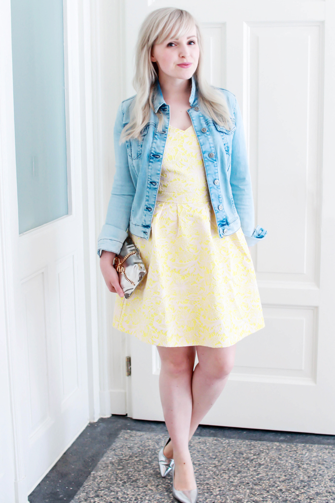 this nervous girl in a yellow dress