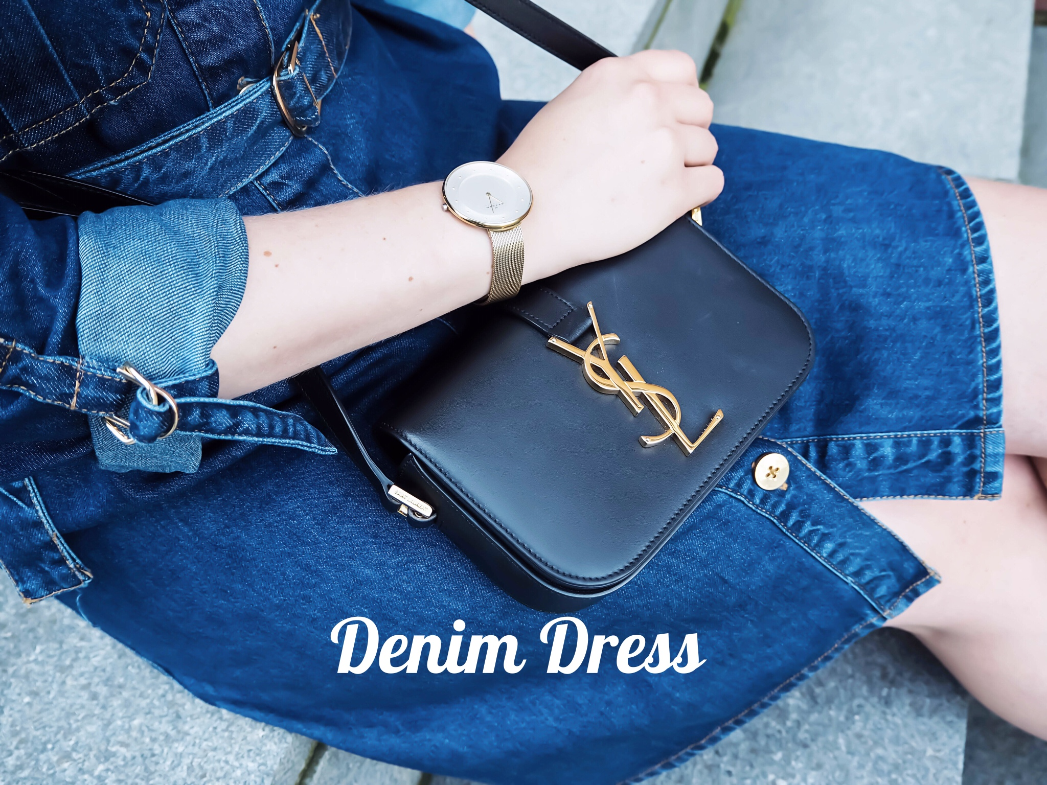 In Love with the denim dress