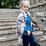 Schal Poncho Mix by Topshop
