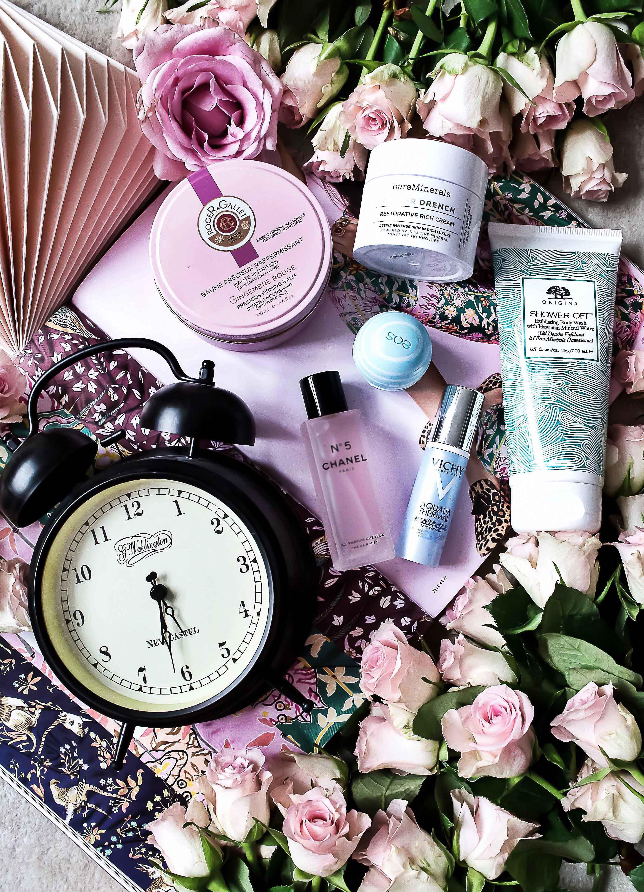 Beauty_kickstarter_morgenroutine_chanel_haarparfum_bareminerals_vichy