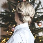 Easy Christmas Hair Tutorial // low rolled updo
