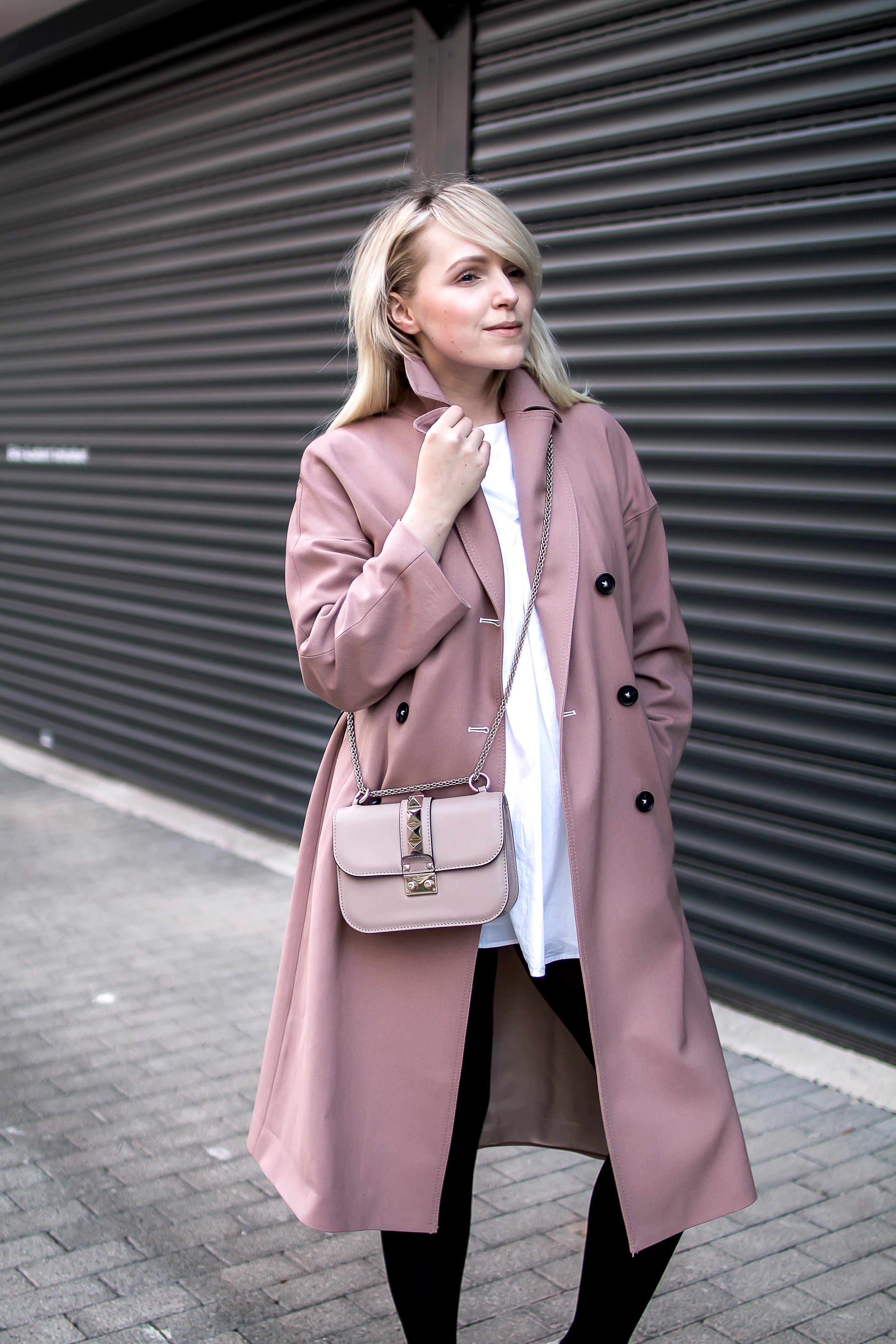 zara rosa Trenchcoat Trend Modeblogger Klischee blogger