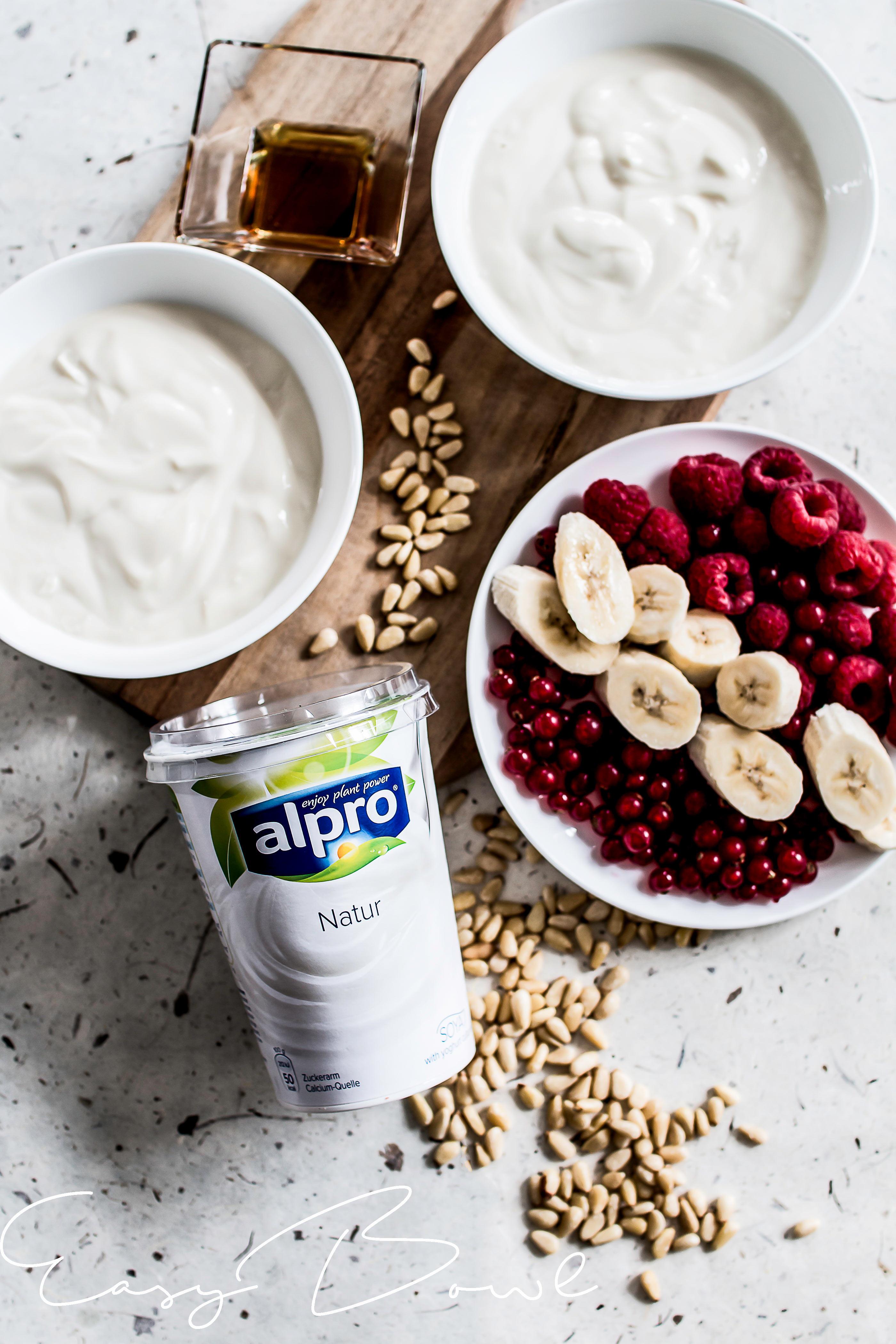 Frühstück mit Alpro Produkten gesund und lecker essen