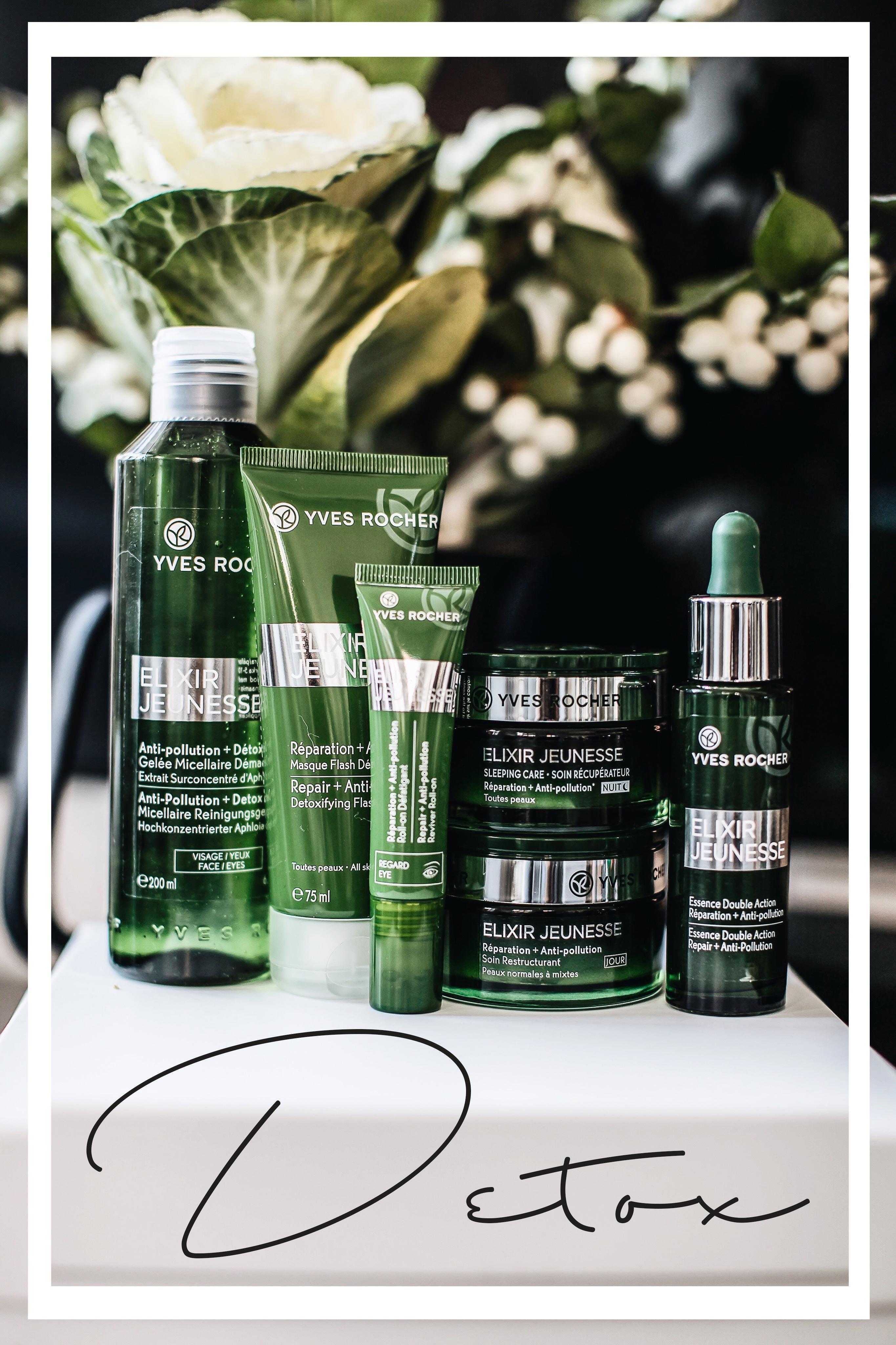 Elixir Jeunesse Serie von Yves Rocher für schöne Haut Detox