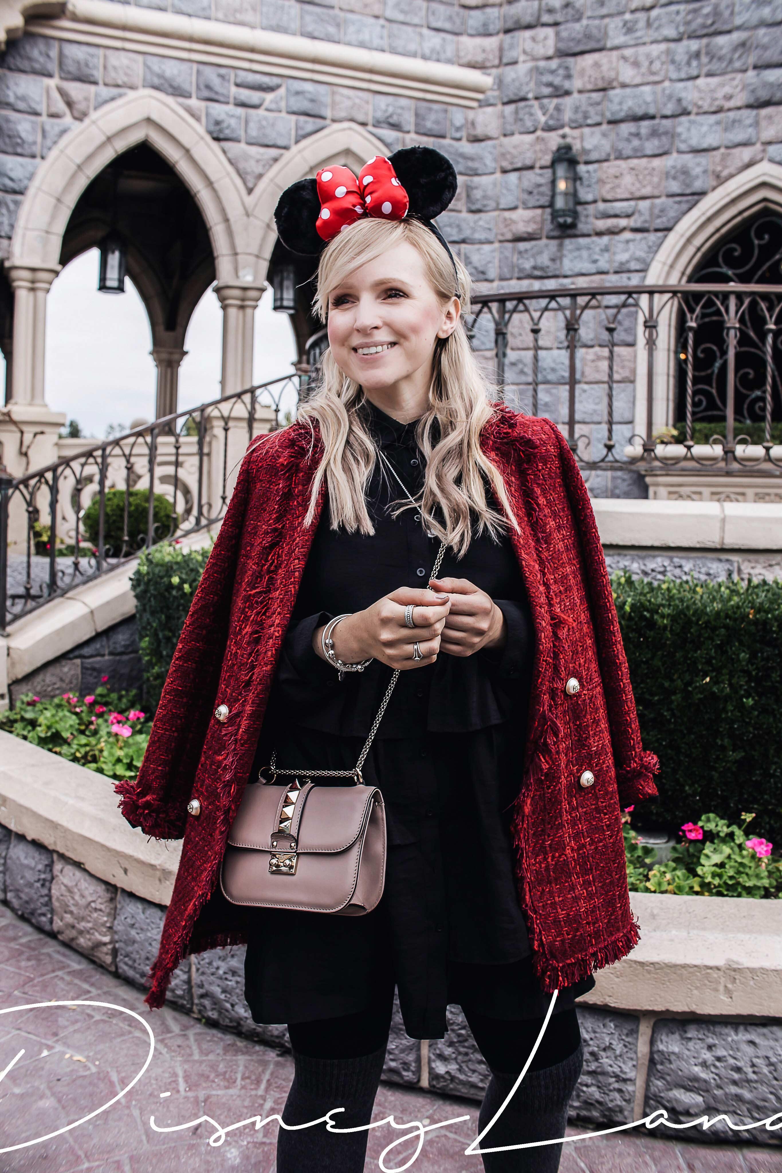 Disneyland Paris Style Minnie Mouse Ohren tragen und Pandora