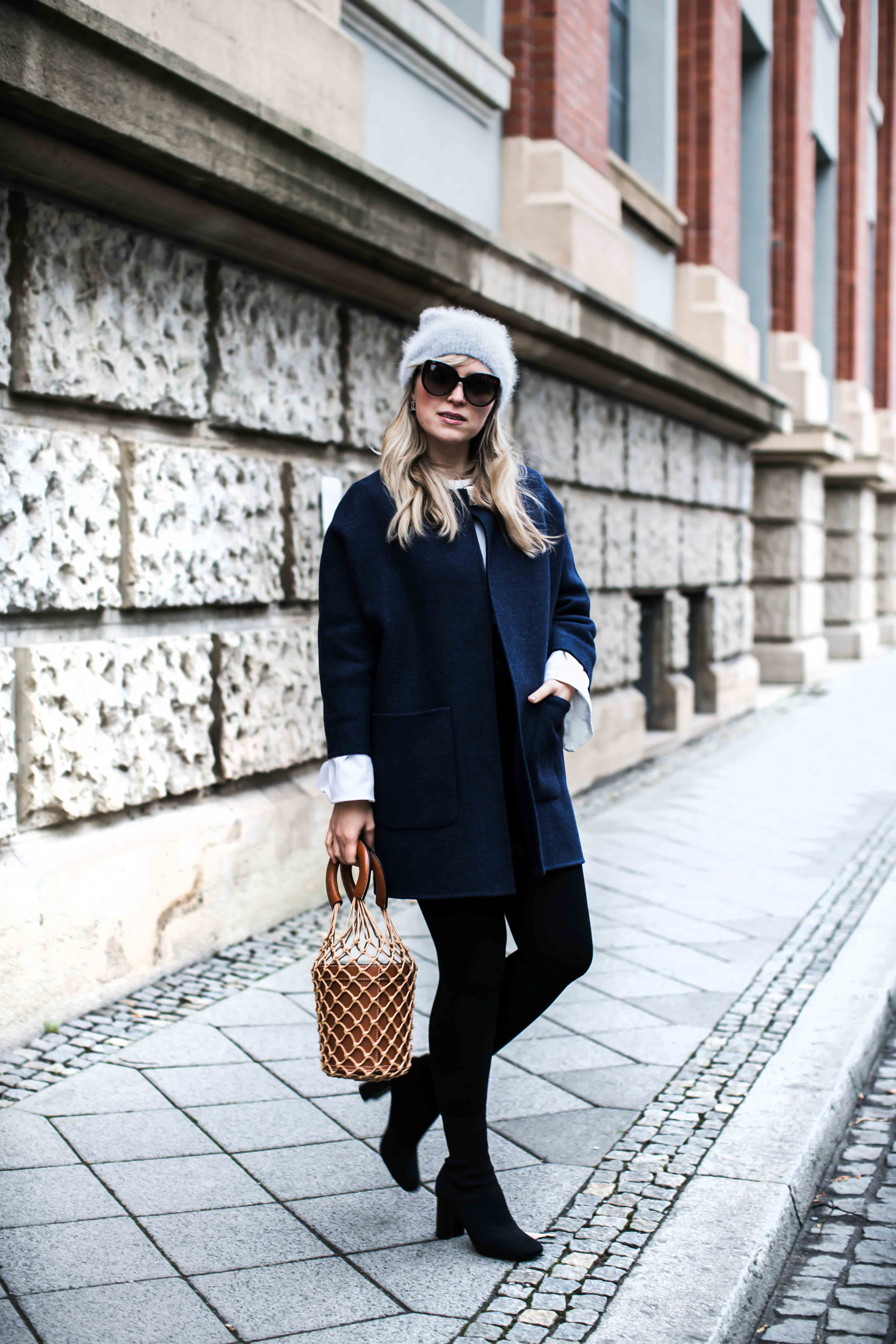 wearing my fave coat and staud bag- und finde dich bitte selbst
