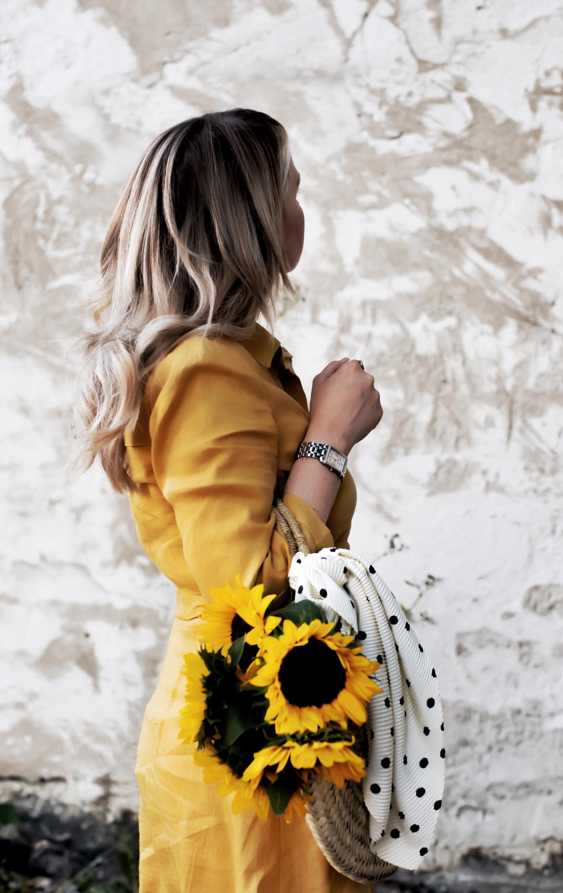 die Farbe gelb das Kleid zara