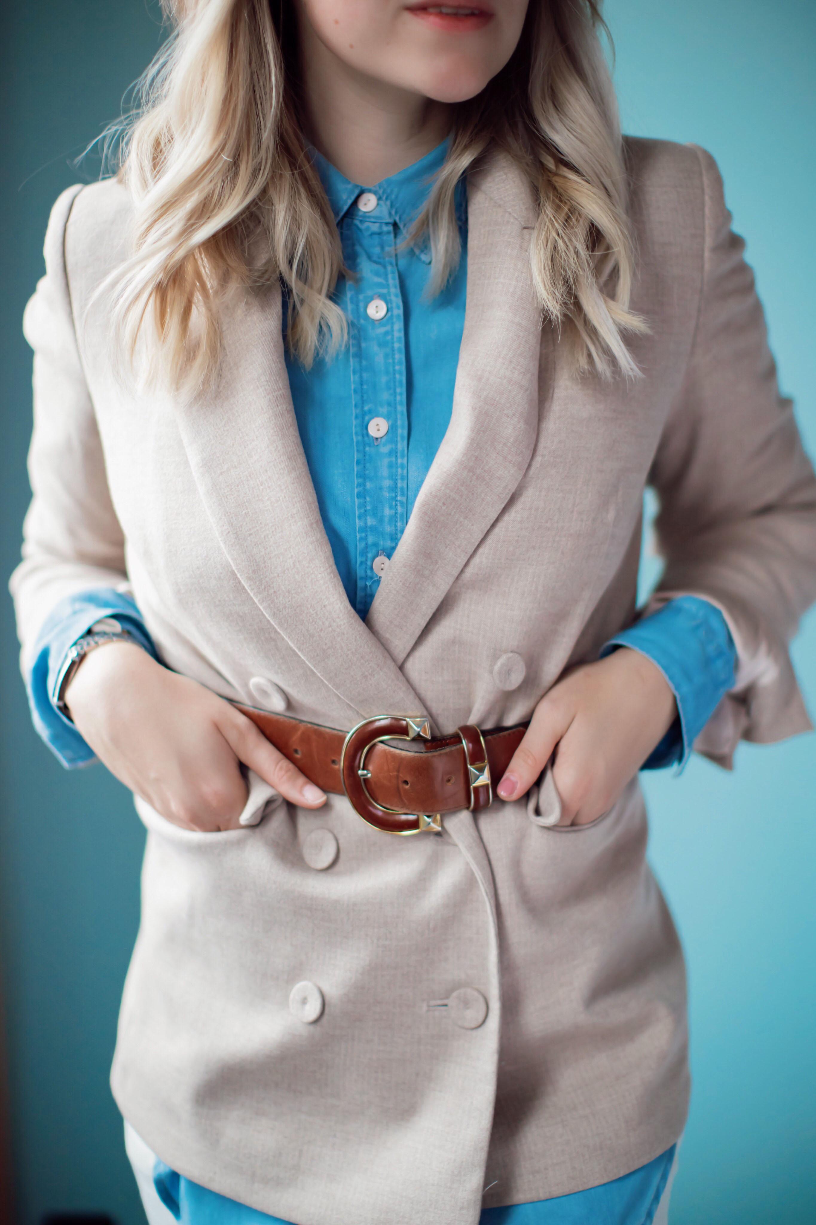 Belted Blazer again- Blazer trifft Vintage Gürtel