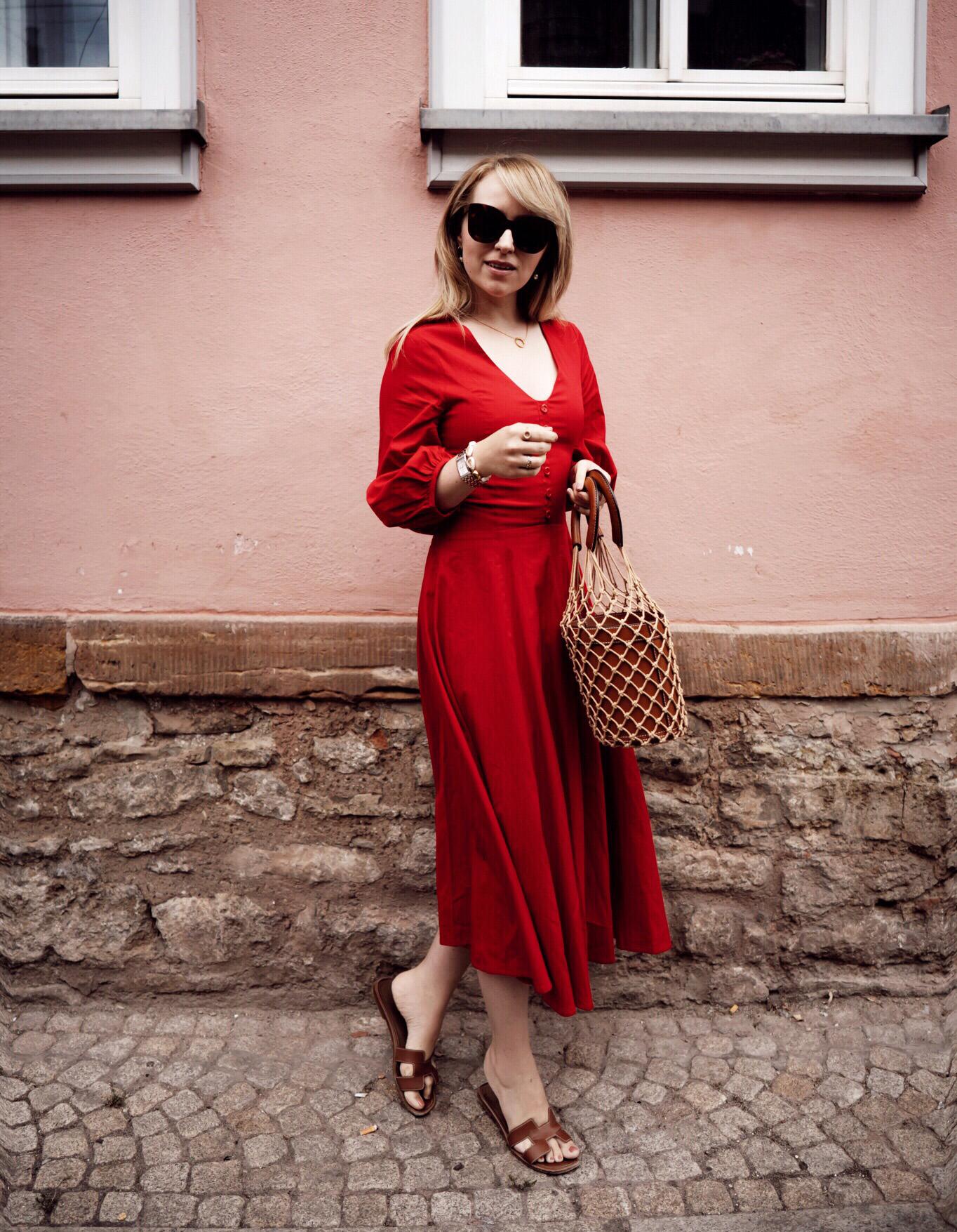 Staud Fashion Korbtasche Kleid Zukkermädchen Rotes Sandalette Hermes 3 c34Rjq5ALS