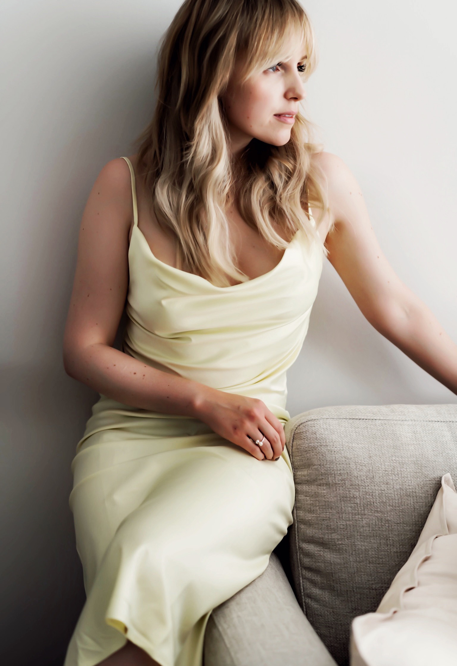 das Silk Slip dress- das Kleid mit schönen Trägern für den Sommer