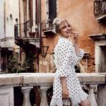 Das Punktekleid von Ulla Johnson in Venedig