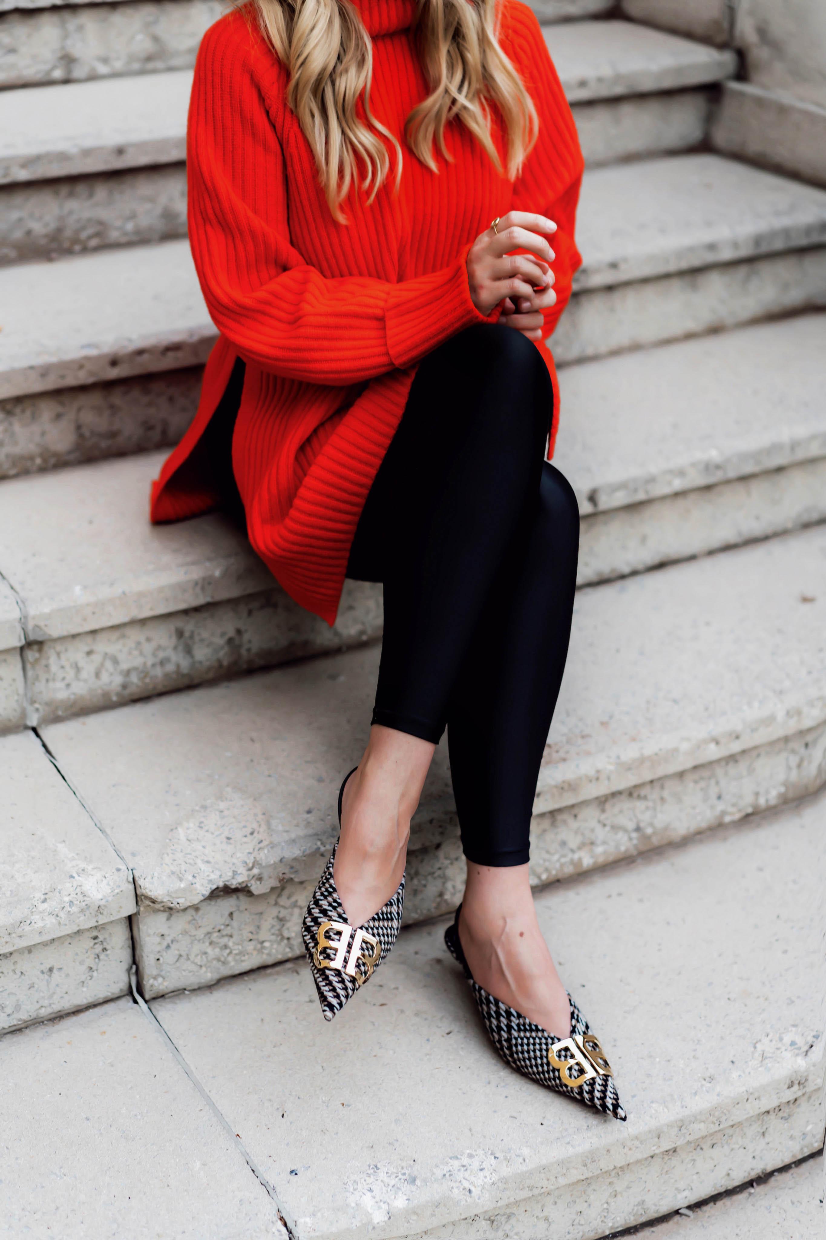 Longsweater zur Leggings sind wieder Trend