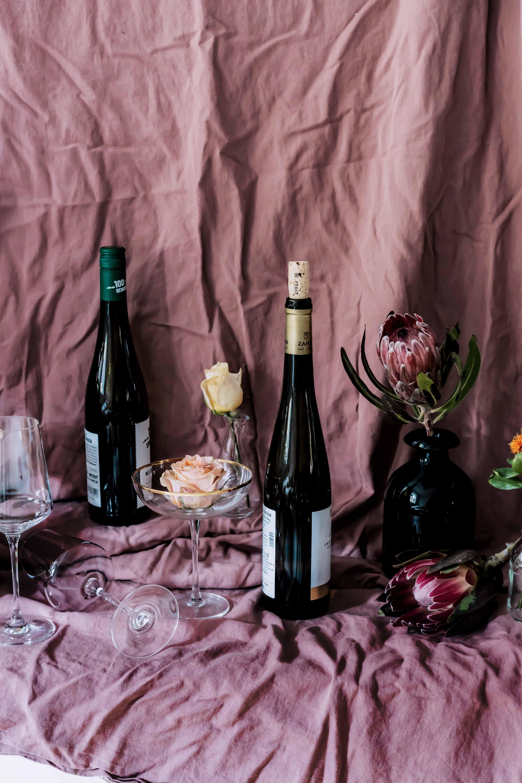 Blumenstrauß-weintasting-dekoration-herbstwein