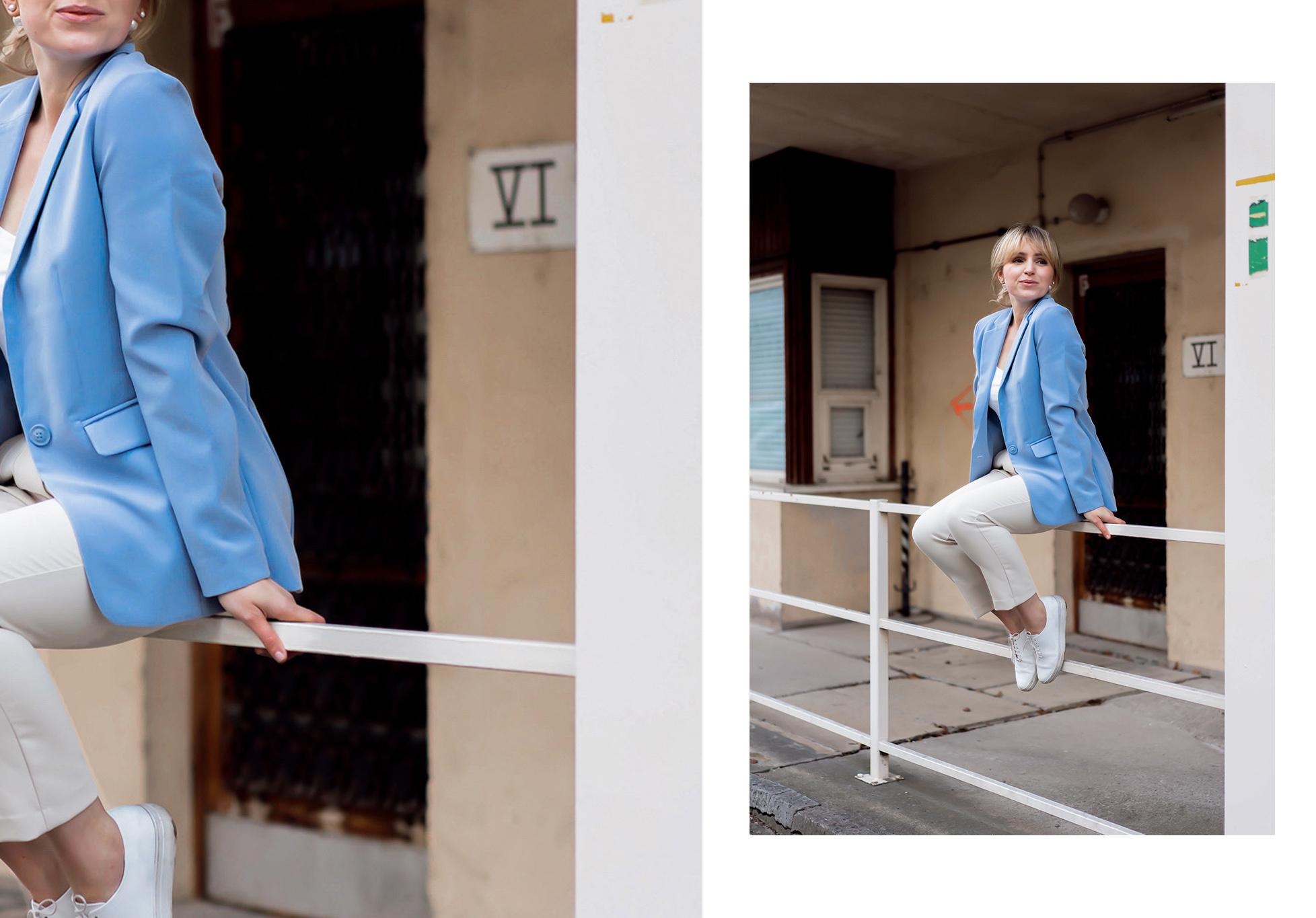 Baby Blue Trend - Der Blazer in Baby Blue