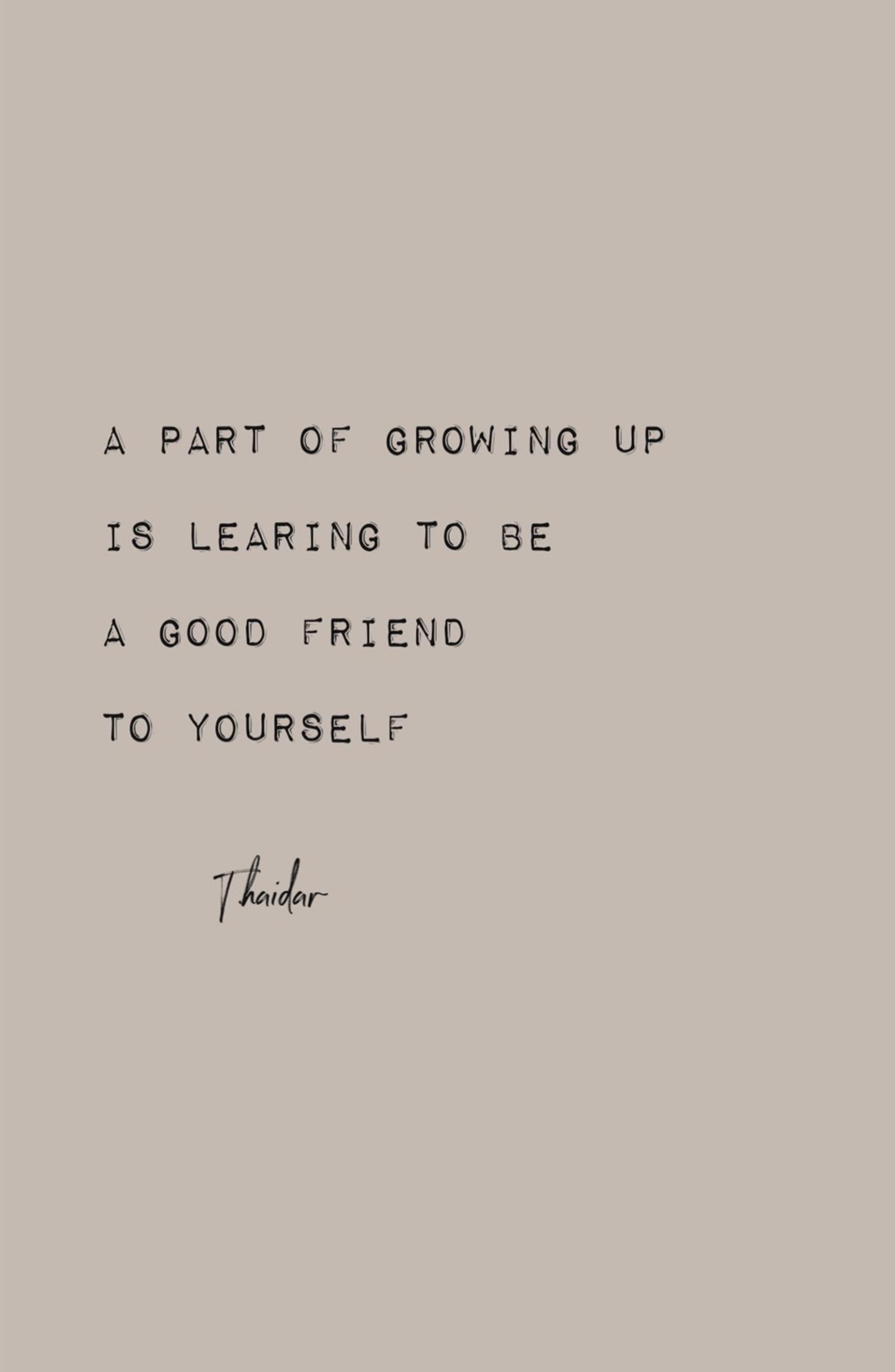 Wärst du gern mit dir selbst befreundet?