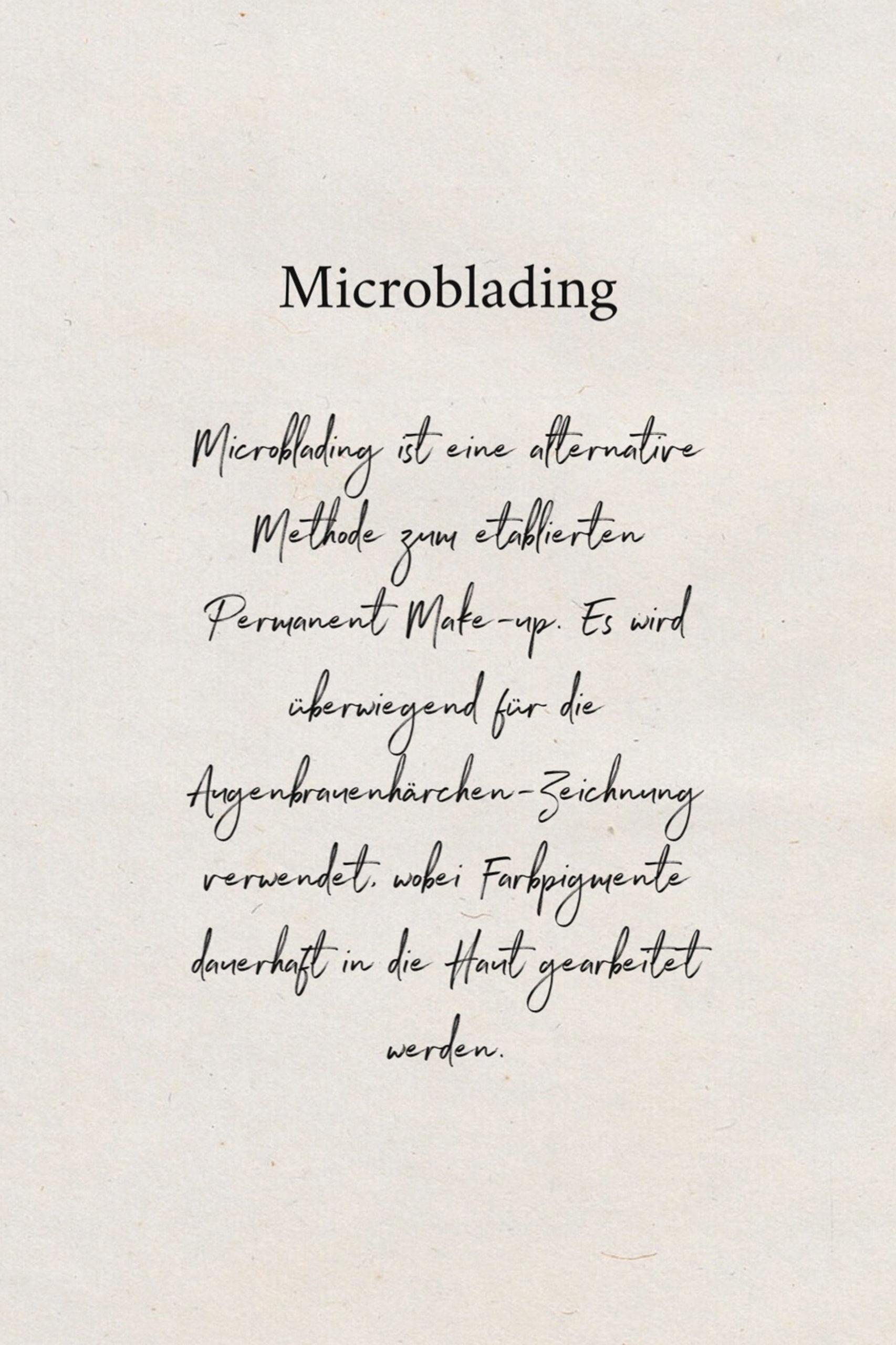 Microbalding - schön und schnell tolle Augenbrauen