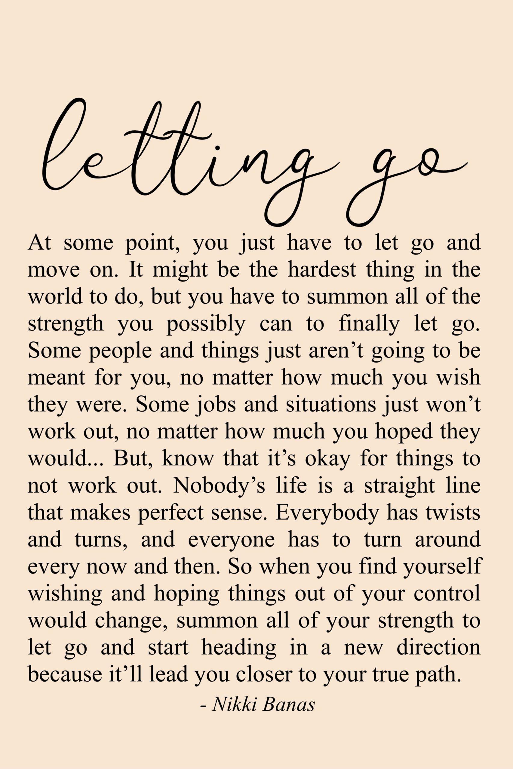 loslassen, nicht weitermachen - wann ist es Zeit aufzugeben