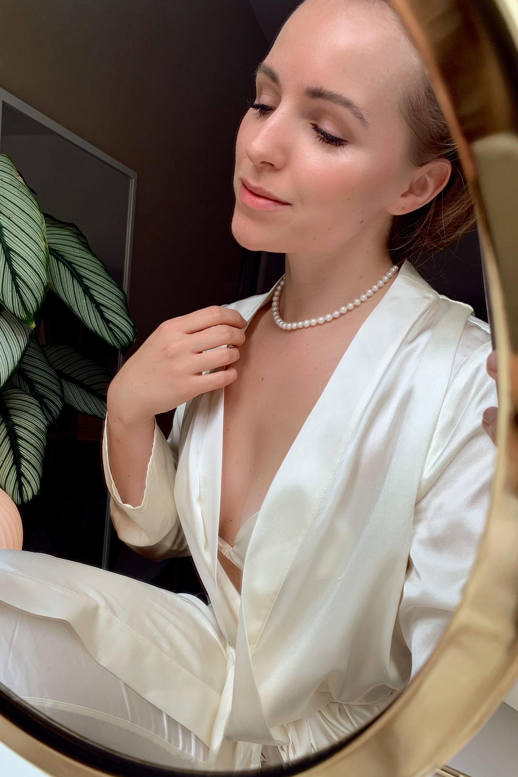 Die Perlenkette aus dem Onlineshop eppi. Handgefertigter Schmuck