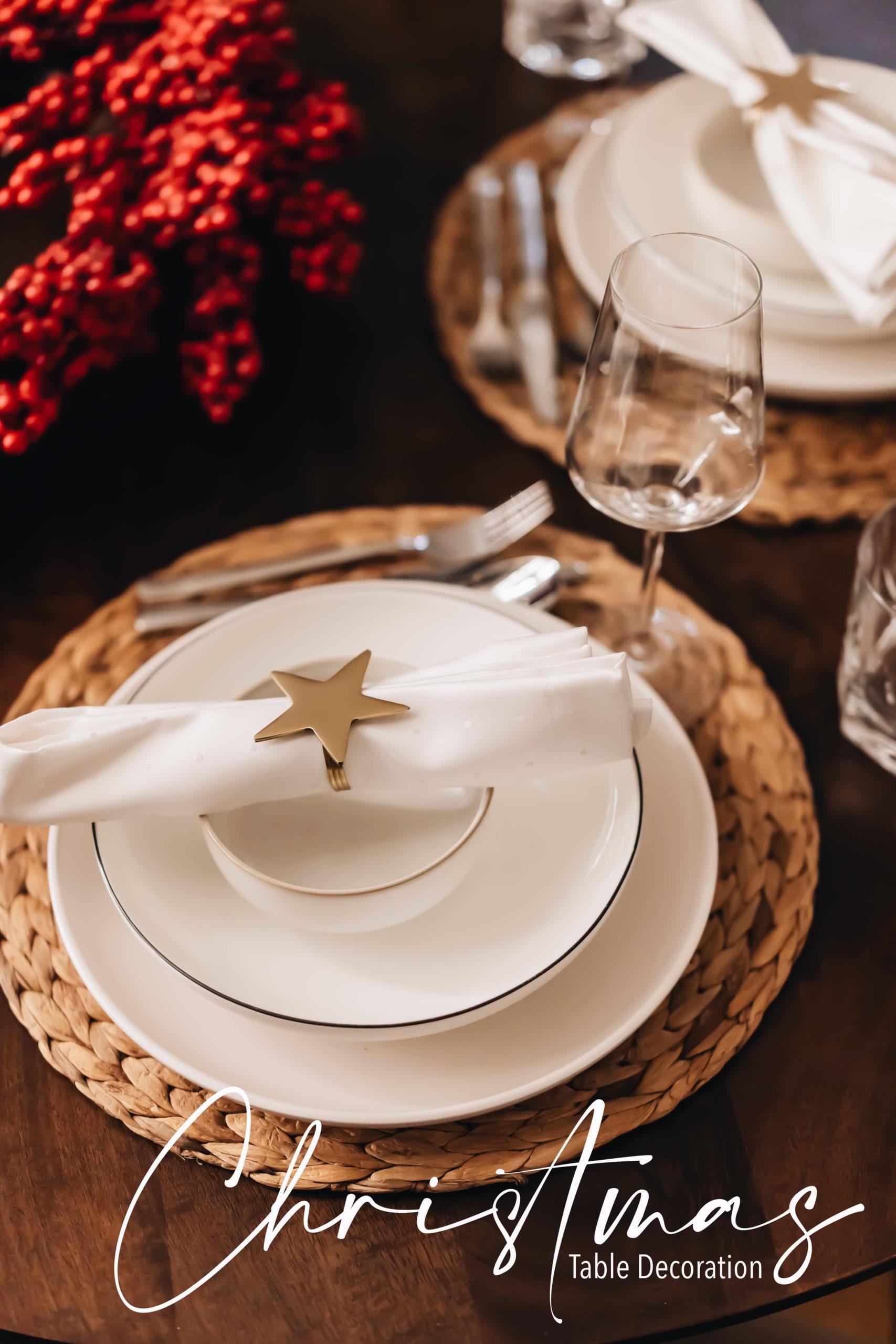 Weihnachtsdekoration auf dem Tisch? Ich zeige euch drei Varianten, mit denen ihr nichts verkehrt machen könnt
