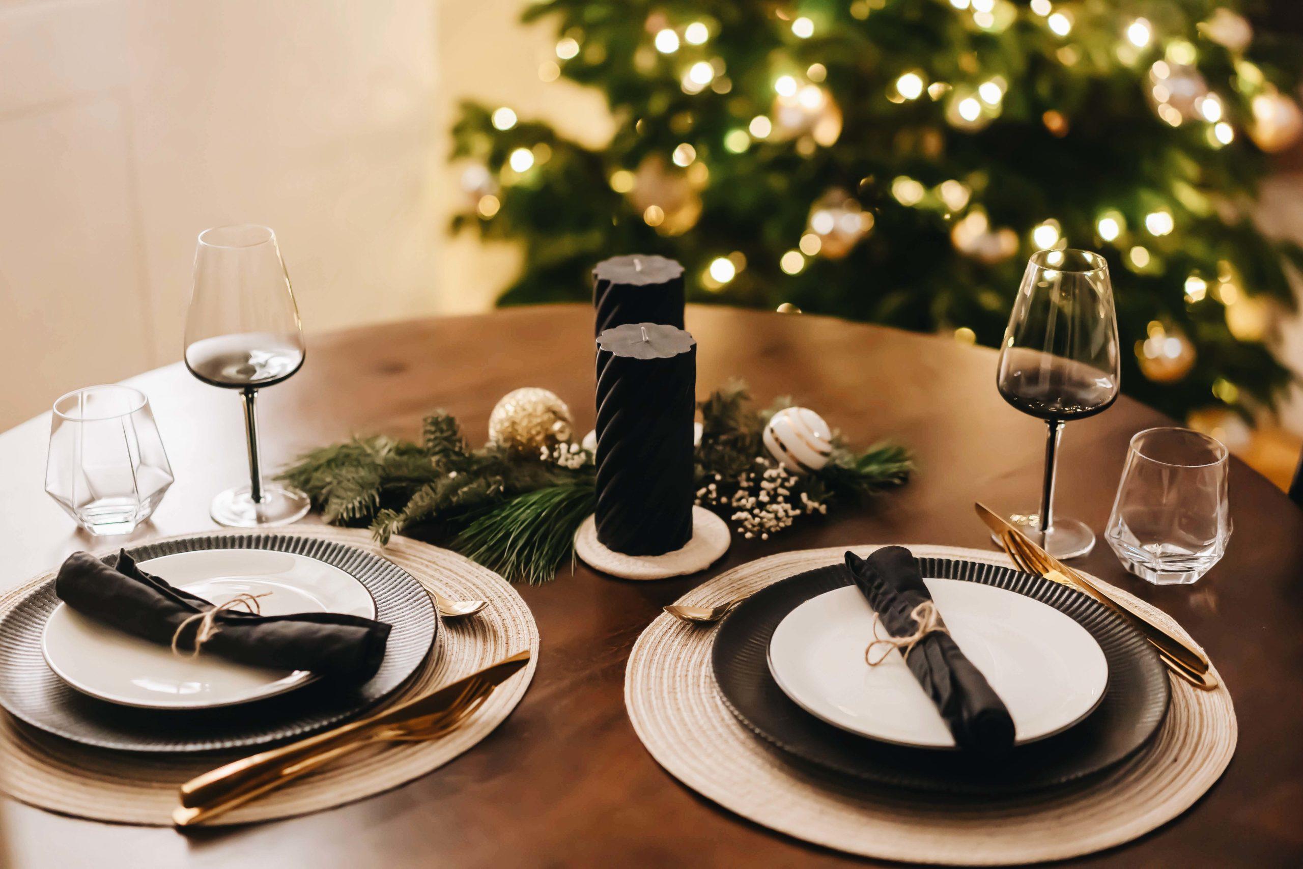 3 Tischdekorationen für Weihnachten